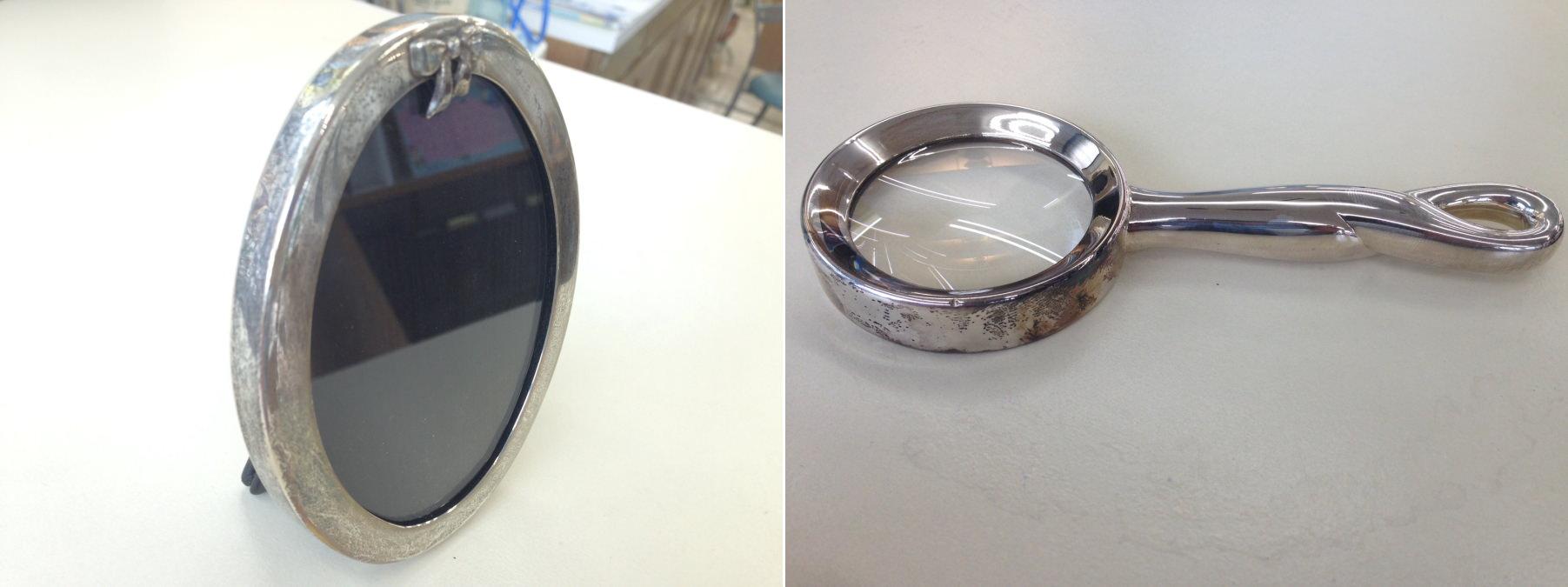 粉の銀みがきなども市販されていますが当店で使っているのは液体のものです。
