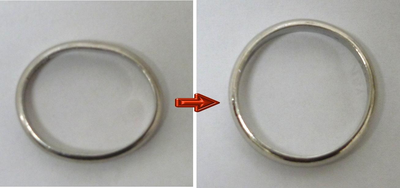 大月市のM様の指輪の変形直しを承りました