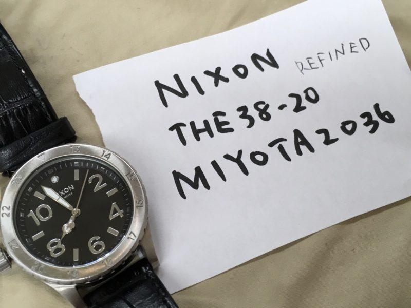 NIXON ニクソン ムーブメント MIYOTA