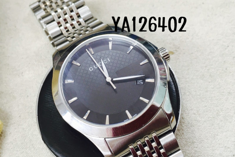GUCCIの腕時計YA126402_電池交換