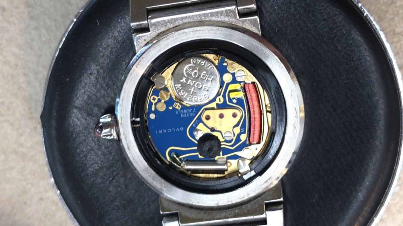 ブルガリの腕時計のムーブメント