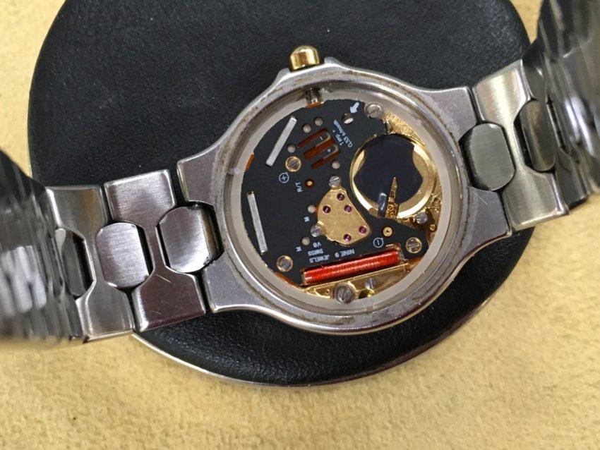 ロンジンクォーツ 腕時計 電池交換 ETA