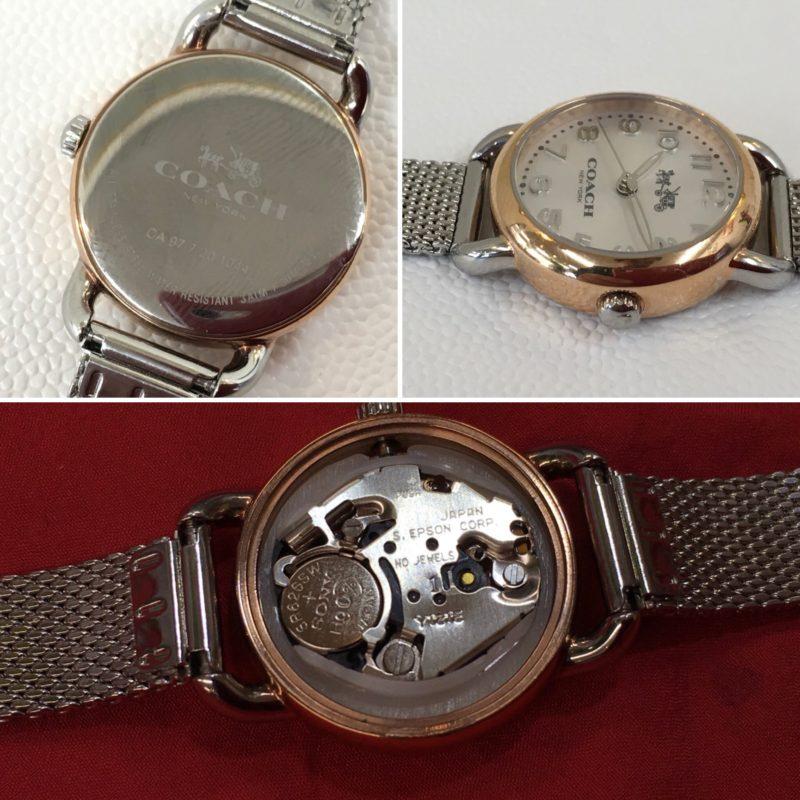 COACHの腕時計の電池交換