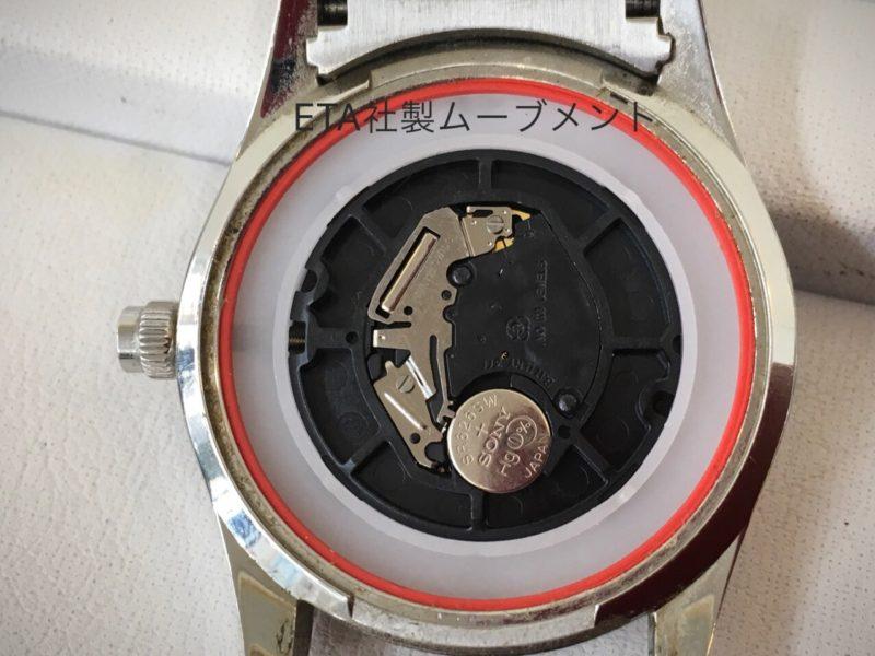 腕時計 カルバンクライン ETA社製ムーブメント 電池交換