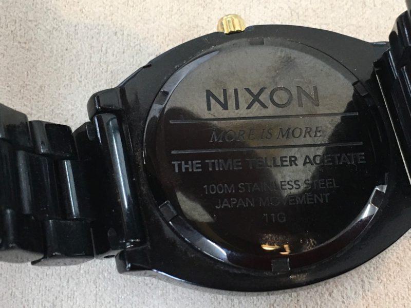 電池交換 ニクソン