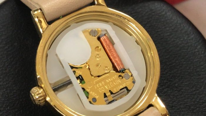 ケイトスペードの腕時計のムーブメント