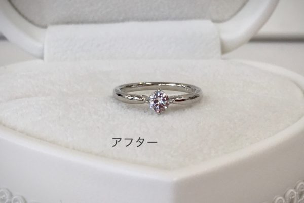 W様よりお母様のダイヤリングを婚約指輪へ作り替えを承りました。
