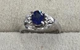 サファイア指輪の作り変え BEFORE