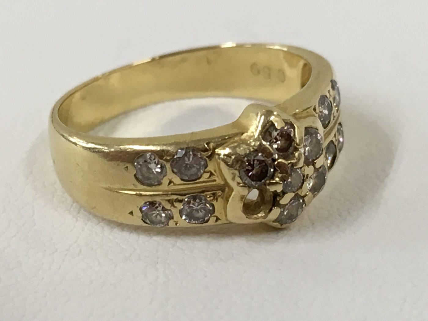 指輪修理 ダイヤ外れ