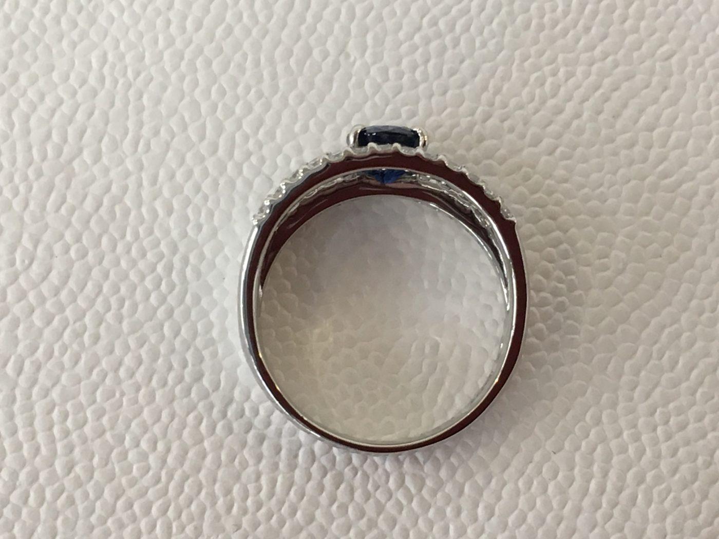 指輪のリフォーム 山梨県 サファイアリングのリフォーム
