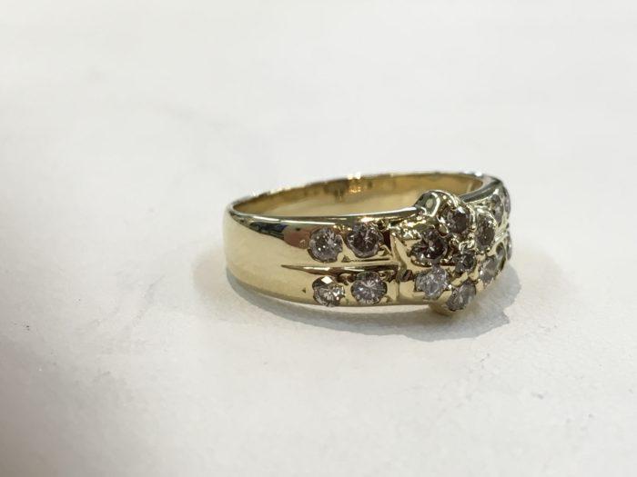 指輪修理 ダイヤリング 石入れ加工