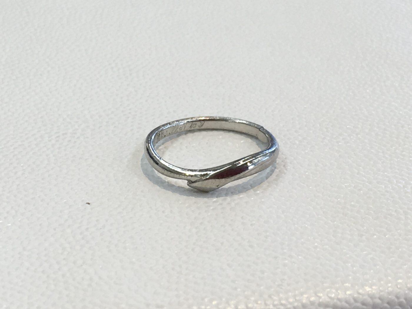 プラチナの指輪 切れた 修理 結婚指輪