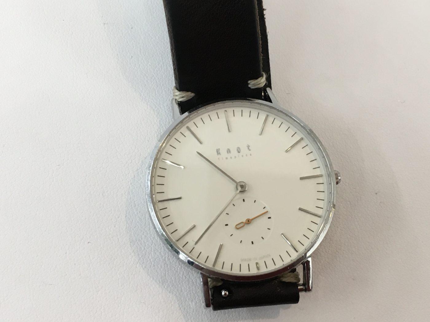 Knot シンプル ウォッチ 腕時計 電池交換 サファイアクリスタル 山梨県