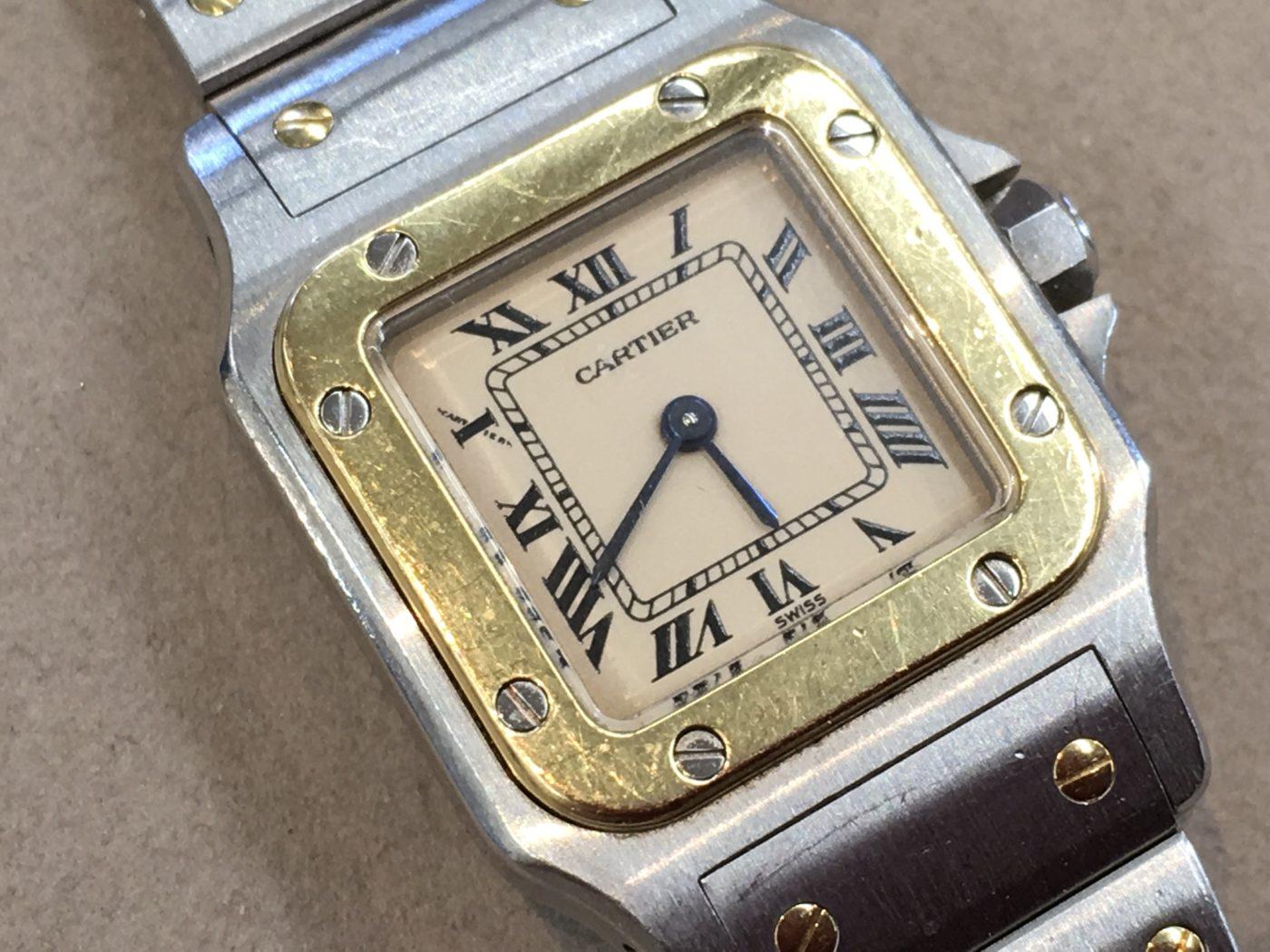 カルティエ サントス 腕時計 電池交換 山梨県 クォーツ