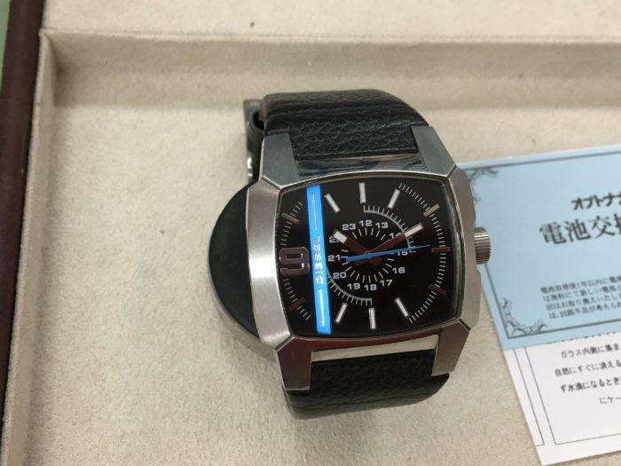 ディーゼル 腕時計 DIESEL 電池交換