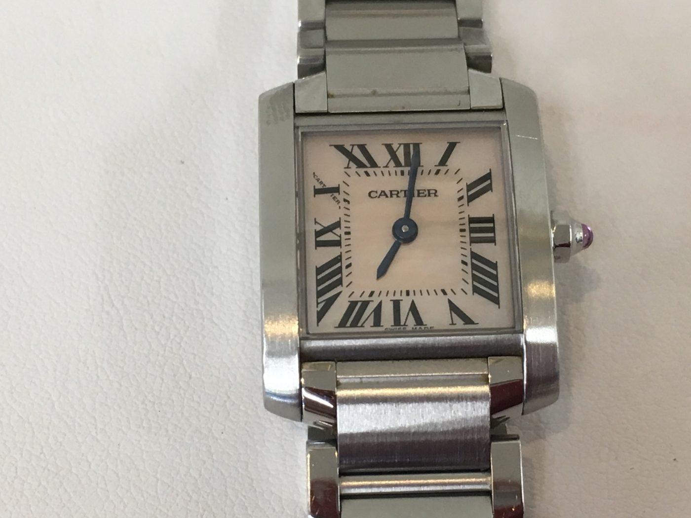 カルティエ 腕時計 タンクフランセーズ 電池交換
