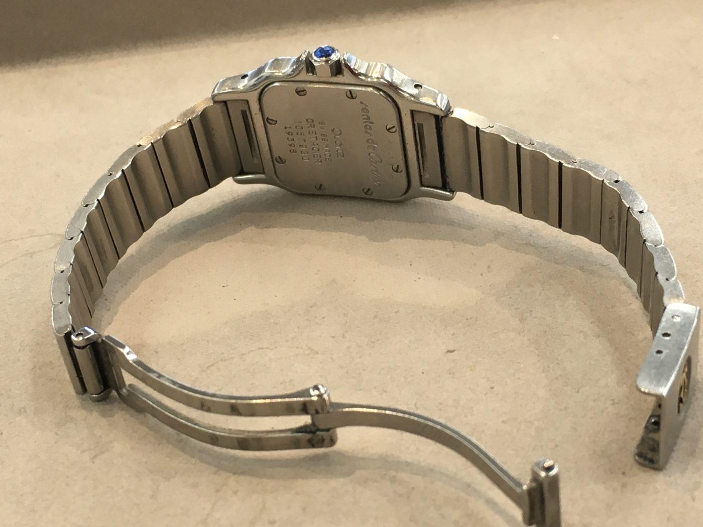 カルティエ 腕時計 サントス 電池交換