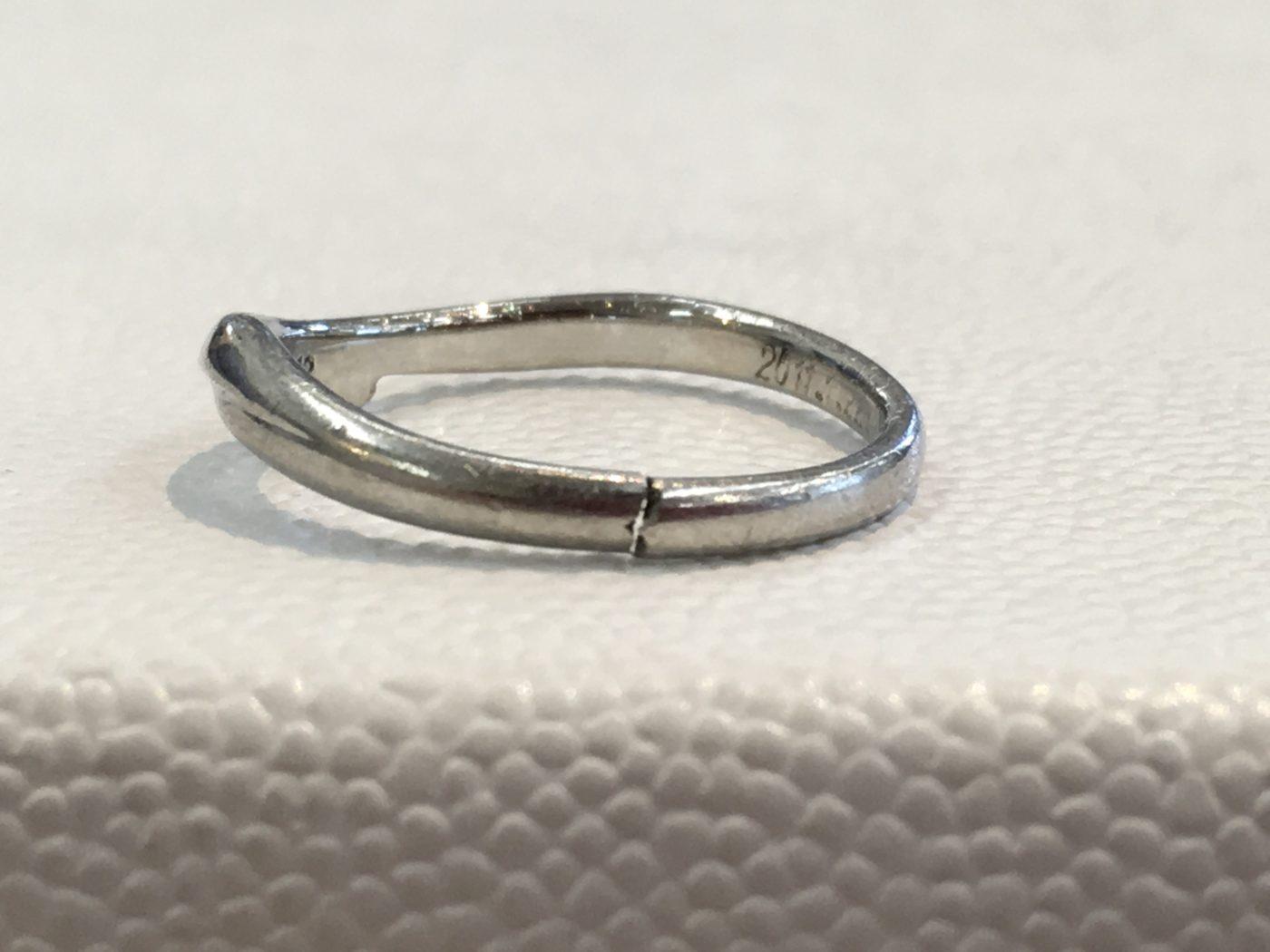 結婚指輪 修理 ロー付け プラチナリング