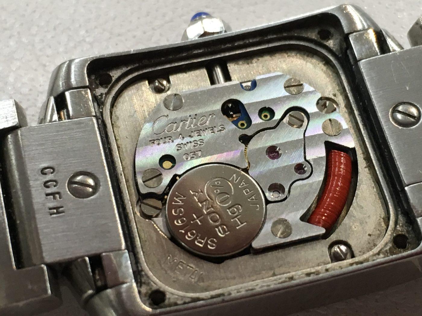 カルティエ タンクフランセーズ 腕時計 電池交換