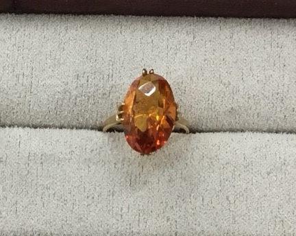 オレンジサファイヤの指輪の作り替えを承りました。 BEFORE