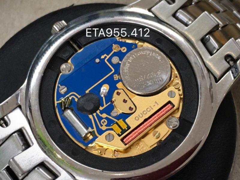 ETA955.412 ムーブメント グッチ GUCCI 腕時計 電池交換