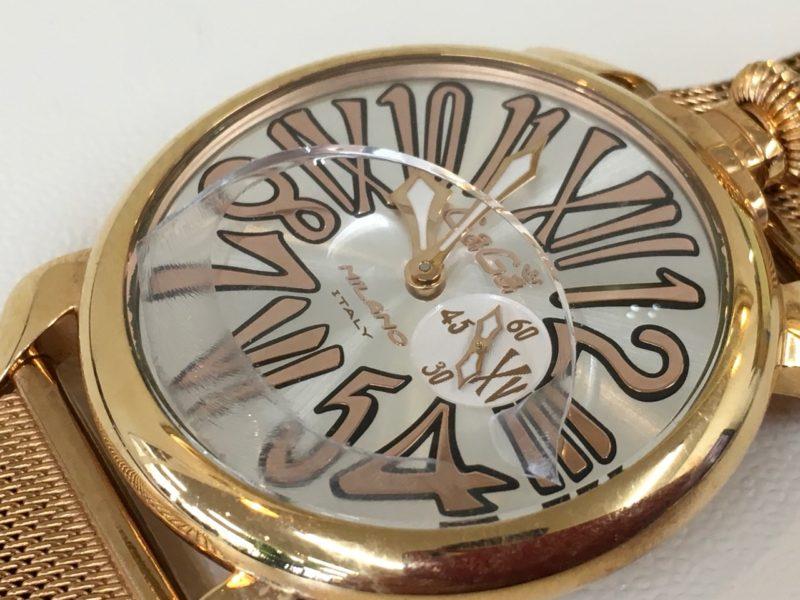 ガガミラノ 腕時計 ガラス交換