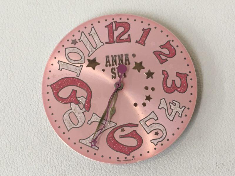 アナスイの腕時計 文字盤 分針