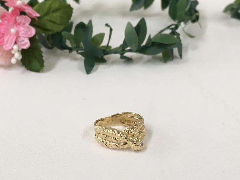 18金 ヘビの指輪 修理