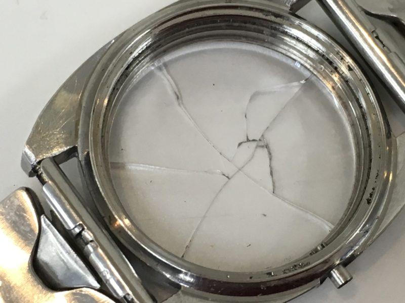 テクノス 腕時計 ガラス交換 修理