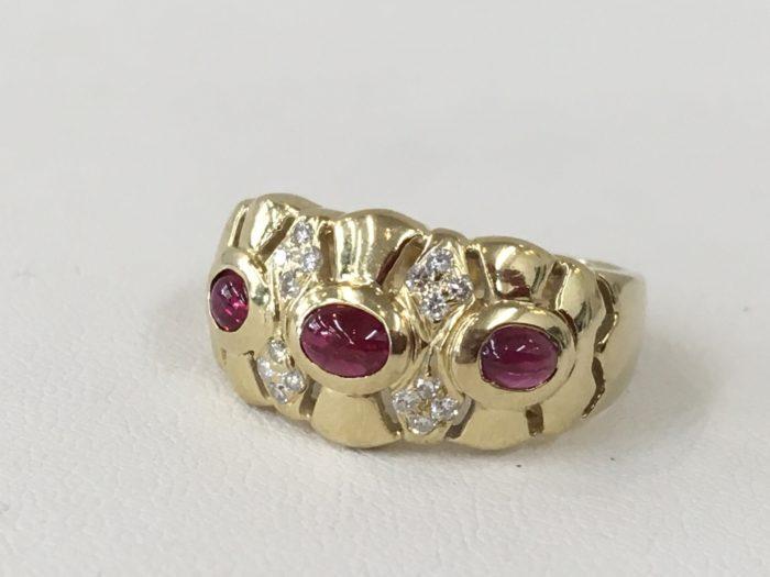 ルビーの指輪 石留め修理