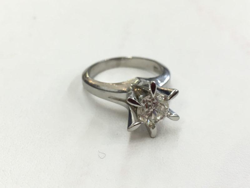 立て爪ダイヤの指輪 指輪の作り替え リフォーム 山梨県