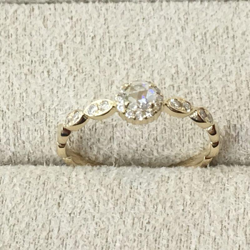 ダイヤモンドリング ローズカット 指輪 修理