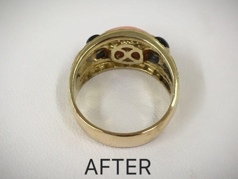 K18リング 指輪修理 厚くする