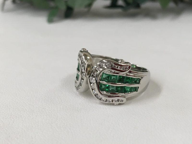 エメラルドの指輪 修理 石留め