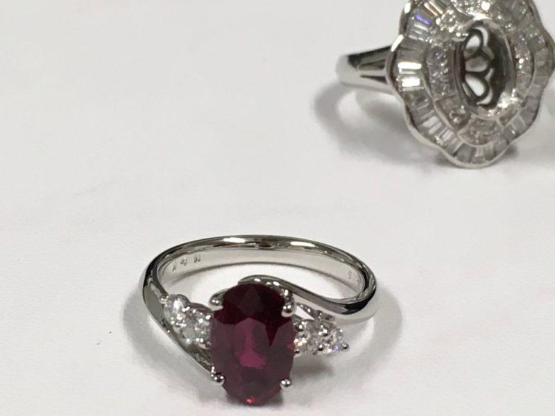 ルビーの指輪 ジュエリーリフォーム