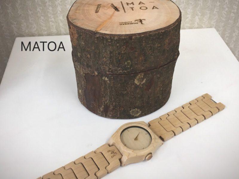 インドネシア産の木製腕時計 MATOA