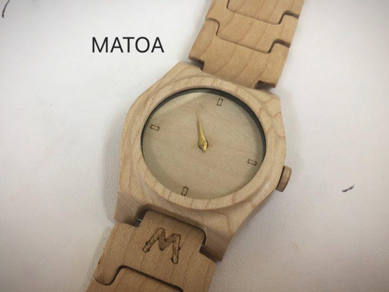 MATOA 木製の腕時計 ウッドウォッチ