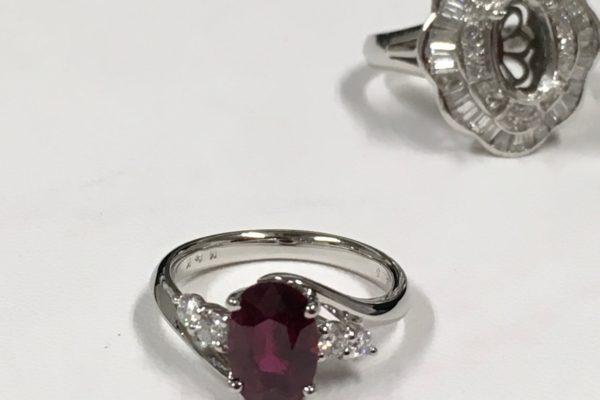 ルビーの指輪の作り替え