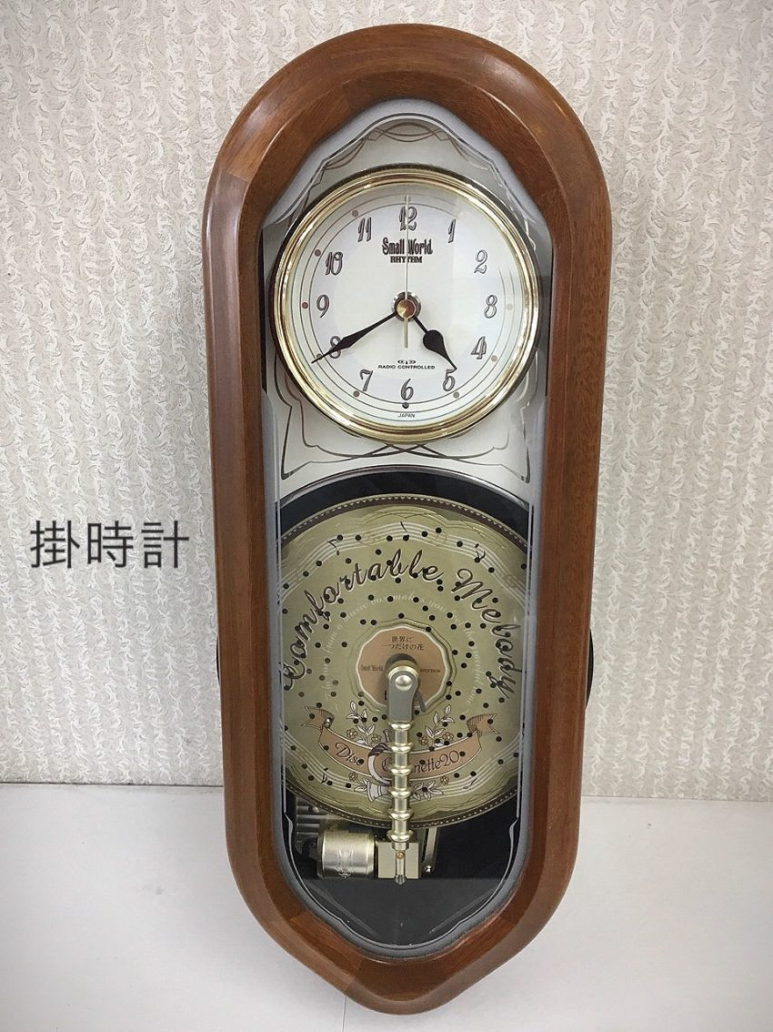 電波掛時計 リズム時計 掛時計 からくり時計 電池液漏れ 修理