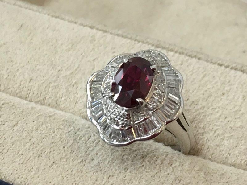 ルビーの指輪 作り替え ジュエリーリフォーム