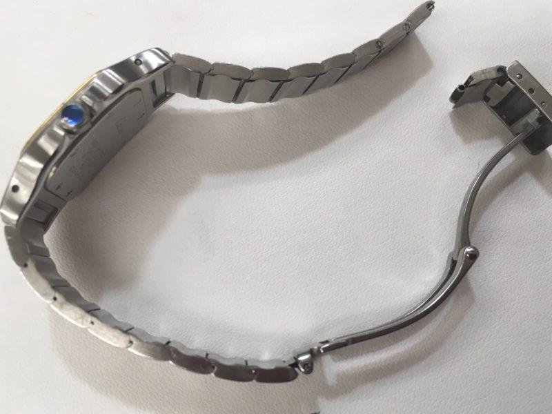 カルティエ タンク 腕時計 ベルトを短く コマ詰め