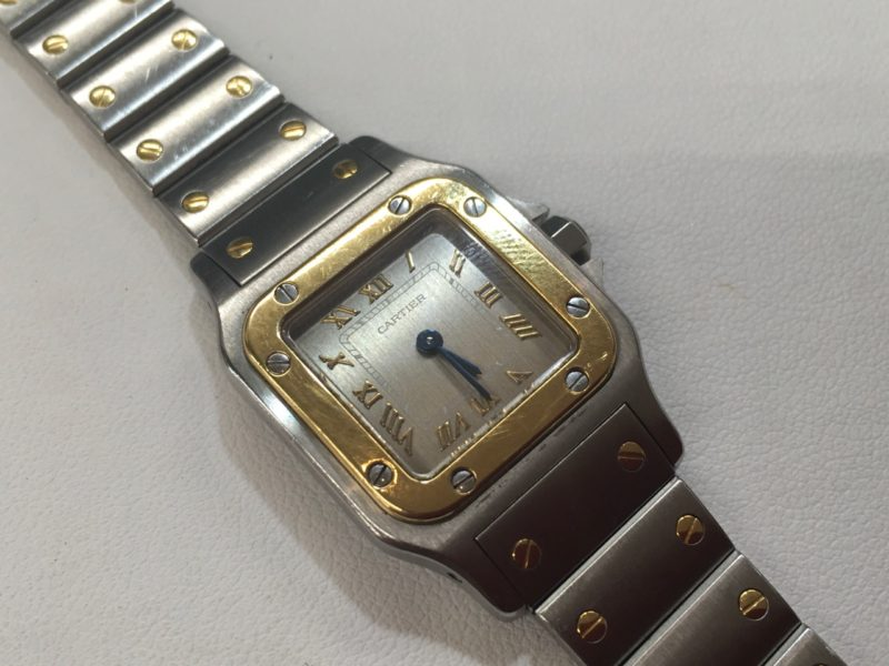 カルティエの腕時計 タンク ベルトを短く コマ詰め Watch