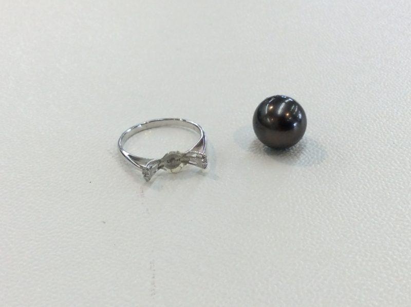 黒蝶真珠の指輪 修理