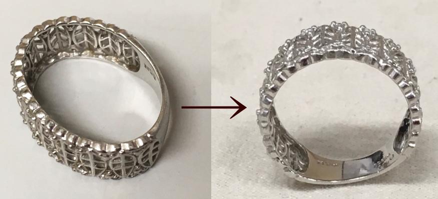 プラチナリング 指輪の変形 変形直し 指輪修理