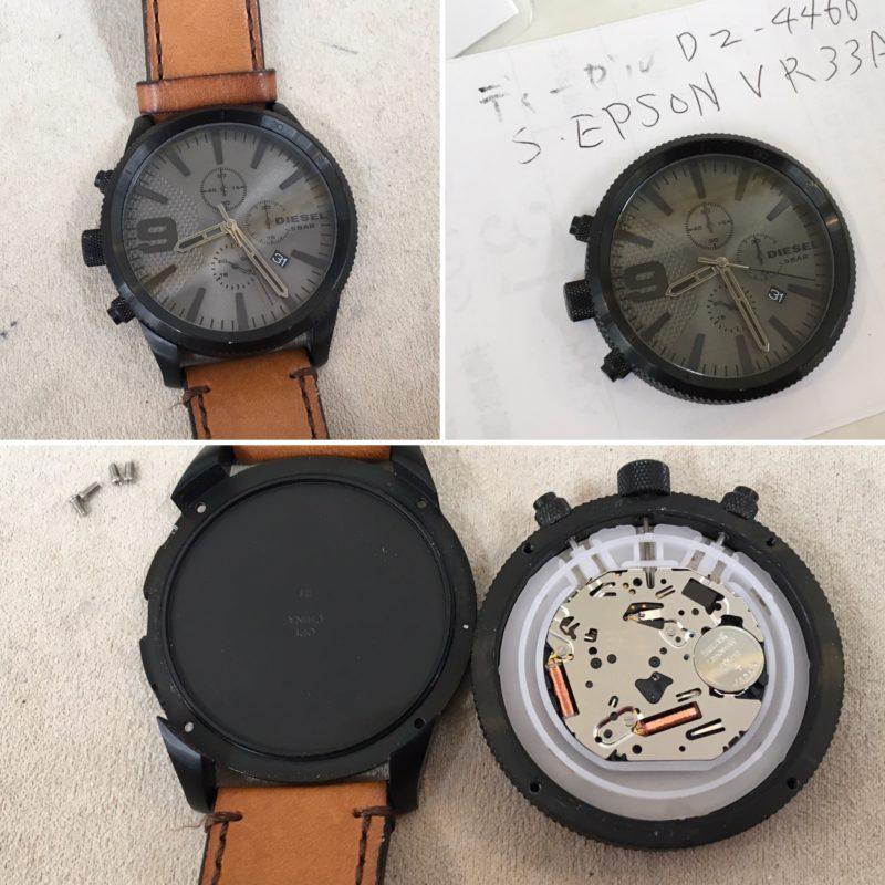 DZ-4460ディーゼルの腕時計の電池交換
