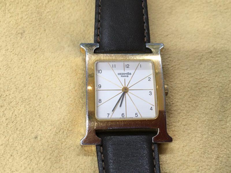 HERMES 腕時計 エルメス H 電池交換