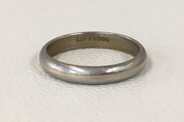 K18/プラチナの指輪のサイズ直し