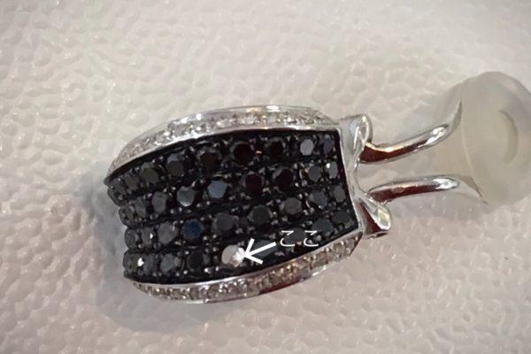 イヤリングのブラックダイヤが外れて無くなってしまった!