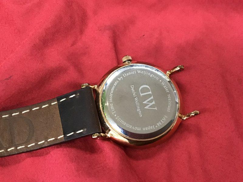 ダニエル・ウェリントン 腕時計 シンプル 電池交換