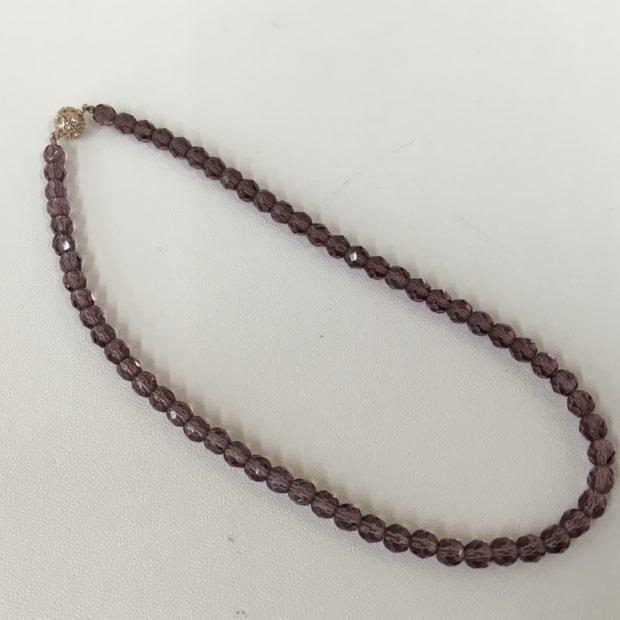 忍野村にお住いのO様より紫水晶念珠の作り替えを承りました。 AFTER